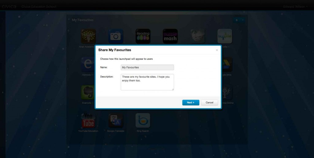 Share a LaunchPad - Description