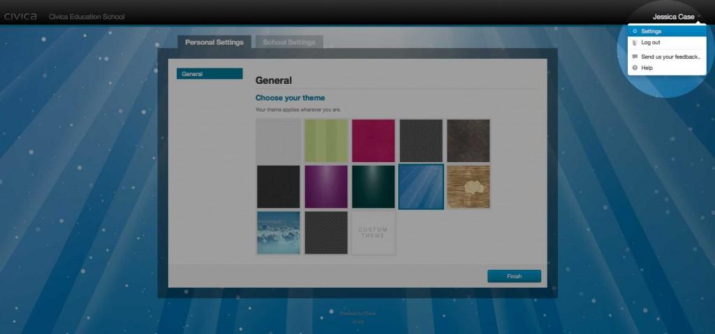 Personalise Portal - Settings